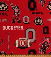 College Ohio State University Buckeyes OSU Fleece Fabric Print BTY - sohs069s