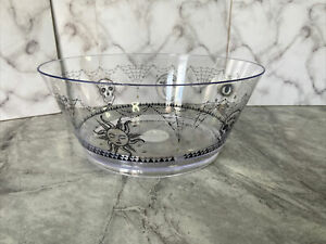 6 -18 HALLOWEEN ROUND BOWLS PUNCH SWEETS FOOD CANDY PARTY TABLE CLEAR JOBLOT NEW