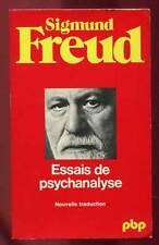 SIGMUND FREUD: ESSAIS DE PSYCHANALYSE. PAYOT. 1983.