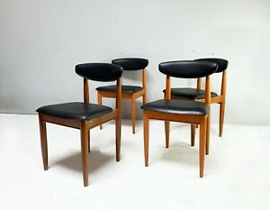 Set of 4 1970's mid century dining chairs by Schreiber