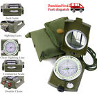 BW Bundeswehr Armeekompass mit Etui Oliv, Kompass Marschkompass Metallgehäuse