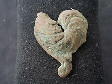 Very rare Roman bronze Cockerel mount/brooch? lovely artifact from Britain L42j