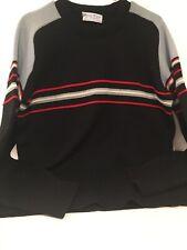 Vintage JONATHAN RICHARDS 100% Wool BOULDER COLORADO Ski Sweater NAVY BLUE Sz XL