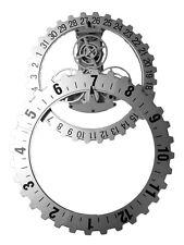 Wanduhr Zahnrad Datum Tag  NEU Design TOP!! Silber