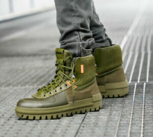 MENS NIKE XARR HIGH LEATHER BOOTS SIZE UK 6.5/ 7 / 8 /10 /10.5 (BQ5240 200)OLIVE
