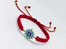 Evil Eye Red Bracelet Handmade , Red Kabala For Protection By Ruigos