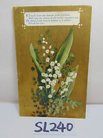 VINTAGE POSTCARD POSTED STAMP 1909 FLOWER I'D ASK FOR YOU OVER ANYTHING FRIEND
