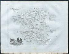 Finistère - 1830 - Carte du département - Atlas Michel, Lorrain - Gravure