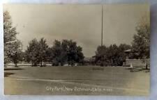 RPPC POSTCARD CITY PARK NEW RICHMOND WISCONSIN #7G