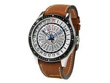 Poljot International 24 Stunden Uhr mechanischer Handaufzug Saphirglas 5atm