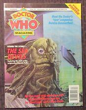 1992 DOCTOR WHO Marvel UK Magazine #192 FVF 7.0 w/ Poster