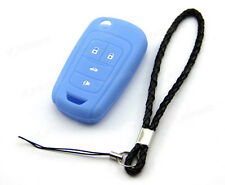 Blue Silicone Case Cover For Chevrolet Sonic 4 Buttons Remote Flip Key CHEV4FBU