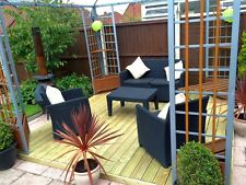 "2.4m x 3.0m garden decking kit ""CHECK POSTCODES FOR FREE DELIVERY"""