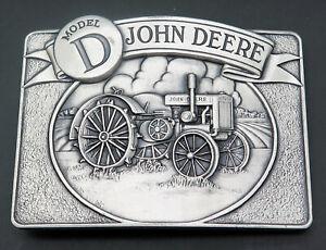 John Deere Model D Tractor Farming Agriculture Vintage Belt Buckle