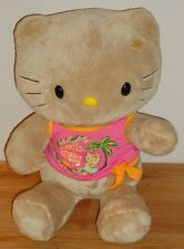 """Build a Bear Hello Kitty Tan stuffed plush 16""""H Hawaiian shirt"""