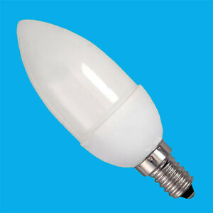 4x 7W Low Energy CFL Micro Candle Eco Friendly Light Bulbs, SES, E14, Lamps