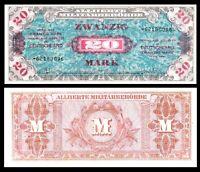 Germany - WWII Allied Military Currency 20 Mark 1944 P-195 Banknote