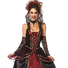 Tenue de Soirée Déguisement Reine des Vampires Rouge Taille M - LEG AVENUE