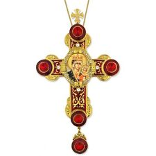 Czestochova Our Lady - Byzantine Styled Wall Cross Pendant - Room Office 9""