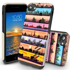 Orzly iPhone 8 Case Grip-Pro Protective Case Cover for iPhone 8- City Scape Sky