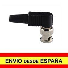 Adaptador Conector Macho BNC COAXIAL TIPO ANGULO Cubierta plastico a4169