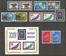 UN-New York #203-214, 1970 Annual Set, Unused NH