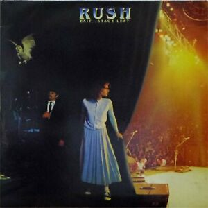 RUSH 'EXIT STAGE LEFT' VINYL DOUBLE LP MERCURY 6619 053 EX-/EX-