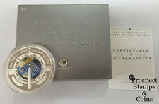 2001 Silver Millennium 1oz Silver Proof Australian Coin with Cleopatra's needle