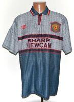 MANCHESTER UNITED 1995/1996 AWAY FOOTBALL SHIRT JERSEY UMBRO SIZE XL ADULT
