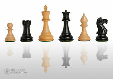 """USCF Sales The Classic Chess Set - Pieces Only - 3.5"""" King - Ebonized Boxwood"""