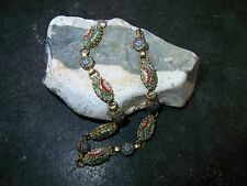 Antikes-Armband-Steinmosaik- Micro-Mosaik-Millefiori-Glas-Buntmetall