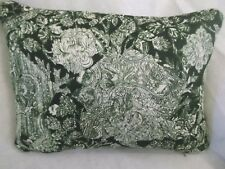 "EMERALD AND ROSE BY LIBERTY FABRIC OBLONG CUSHION 20"" X 14 "" PIPED/ZIPPED"