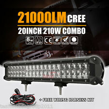 4D+ Cree 20inch 210W LED Light Bar Fog Lamp Car Boat Spot Flood Combo Driving 22