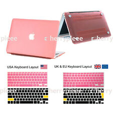 Smart Matt Hardshell Hard Case &Keyboard Soft Cover Skin For Laptop Mac MacBook