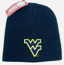 WEST VIRGINIA MOUNTAINEERS UNCUFFED NCAA SNOW KNIT BEANIE SKI CAP HAT NEW!