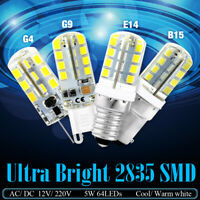 G4/G9/E12/E14/B15 2835 SMD 12V/220V 3-9W LED Corn Bulb Lamp Energy-saving Lights