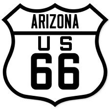 "ROUTE 66 Arizona American Road Sign sticker 4"" x 4"""