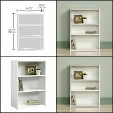 Sauder 3-Shelf Bookcase Beginnings Soft White finish