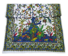 Baby Quilt Multicolor Hand Stitched Tree Of Life Coverlet With 100%Cotton Filled
