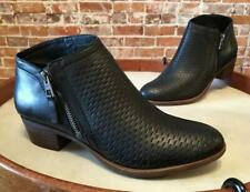 Lucky Brand Black Perforated Leather Brielley Ankle Boot Bootie Sale