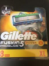 GILLETTE FUSION 5 PROGLIDE POWER RAZOR BLADES 8 PACK - 100% GENUINE