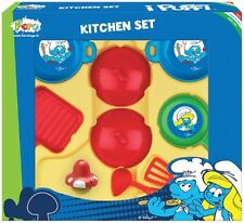 Kitchen Pretend Play Faro Cooking Smurf Pan Toy Chef Ages 3+ Utensils Smurfs Fun