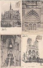 Lot 4 cartes postales anciennes REIMS 3