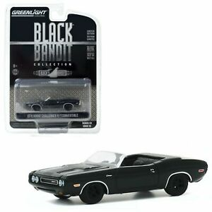 1/64 Greenlight 1970 Dodge Challenger R/T Convertible Black Bandit Collection