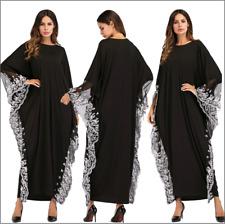 Kaftan Muslim Abaya Women Dress Loose Islamic Jilbab Vintage Cocktail Maxi Robe
