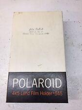 Vintage Polaroid #545 4x5 Instant Land Camera Film Holder in Original Box