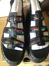 Dr Marten Yelena Sequin Sandals, Size 7, Used .