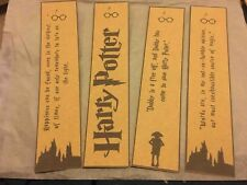 Harry Potter Style Bookmarks - Set of 2 - Kraft Card - Dobby, Crest, HP, Quiddic