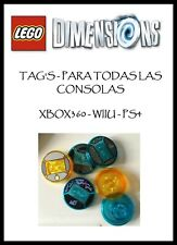 LEGO DIMENSIONS - TAG'S - TODAS LAS PLATAFORMAS - (NM/EX)