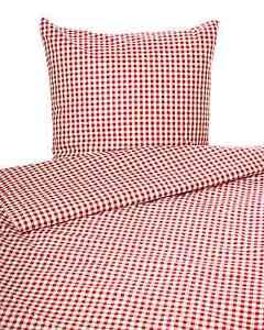 Landhaus Bettwäsche rot-weiß kariert mit Reißverschluss 100% Baumwolle Vichy